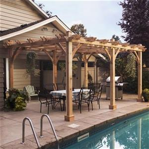Outdoor Living Today BZ1220 12-ft x 20-ft Cedar Breeze Pergo