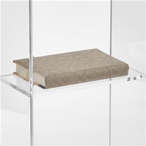 Oklahoma Sound Clear Acrylic Lectern with Shelf,401S