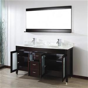 Spa Bathe 63-in Elva Series Double Vanity,EV63CH-CWM
