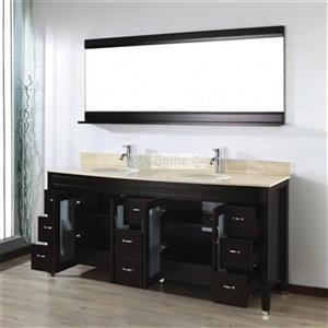 Spa Bathe Elva Series Bathroom Vanity,EV75CH-GB