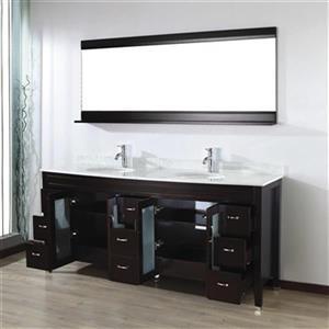 Spa Bathe Elva Series Bathroom Vanity,EV75CH-CWM