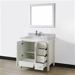 Spa Bathe 36-in JAQ Series Bathroom Vanity,JA36WHT-CWM