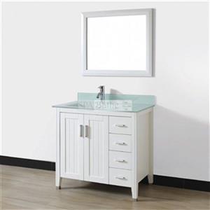 Spa Bathe 36-in JAQ Series Bathroom Vanity,JA36WHT-MG