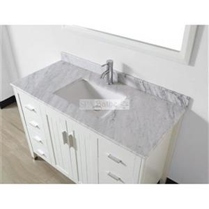Spa Bathe 48-in JAQ Series Bathroom Vanity,JA48WHT-CWM