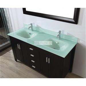 Spa Bathe 60-in JAQ Series Double Vanity,JA60CH-MG