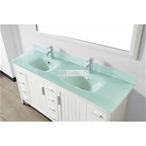 "Spa Bathe JAQ Bathroom Vanity with Mirror - Double Sink - 72"" - White"