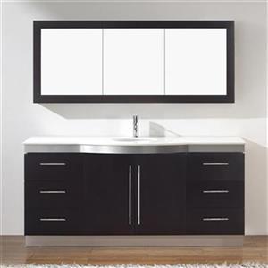 Spa Bathe 72-in Delucia Series Bathroom Vanity,DE72SCH-NQZ