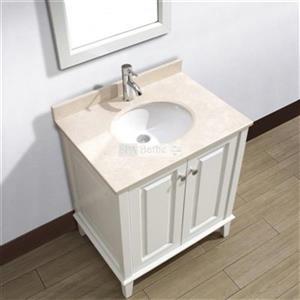 Spa Bathe 30-in Lauren Series Bathroom Vanity,LE30WHT-GB