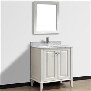 Spa Bathe 30-in Lauren Series Bathroom Vanity,LE30WHT-CWM