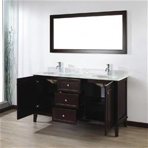Spa Bathe 63-in Lauren Series Double Vanity,LE63CH-CWM