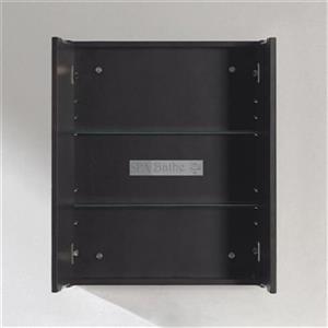 Spa Bathe Storage Mirrored Cabinet with Glass Shelf and Doub