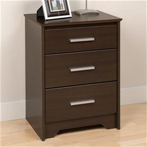 Prepac Furniture Coal Harbor Tall 3-Drawer Nightstand,ECH-20