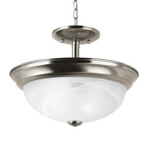 Sea Gull Lighting Windgate 2-Light Semi-Flush Mount Pendant