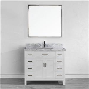Spa Bathe 42-in Kenzie Series Bathroom Vanity,KZ42Wht-CAR