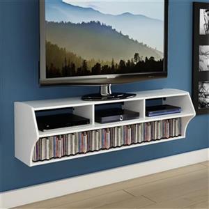Prepac Furniture Altus Plus 58-in Floating TV Stand,WCAW-020