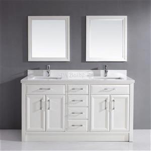 Spa Bathe Calumet 63-in Double Vanity - White