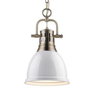 Golden Lighting 3602-S Duncan 1 Light Mini Pendant,3602-S AB