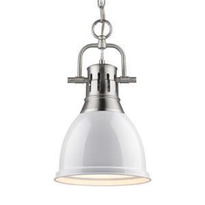 Golden Lighting 3602-S Duncan 1 Light Mini Pendant,3602-S PW