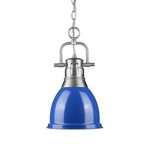 Golden Lighting 3602-S Duncan 1 Light Mini Pendant,3602-S PW