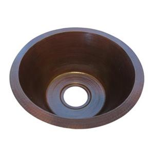 Novatto TCB-001AN Managua Round Copper Bar and Prep Sink wit