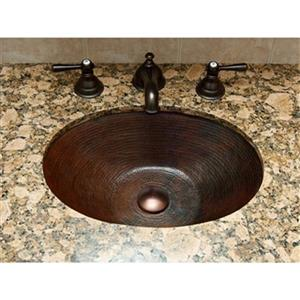 Novatto Quito Oval Undermount Copper Bath Sink,TCU-002AN