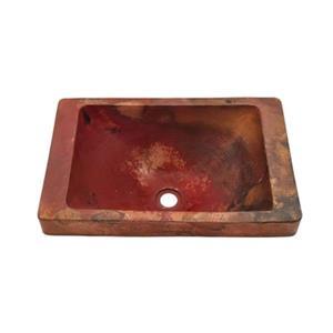 Novatto Santa Cruz Rectangle Surface Mount Copper Sink,TCU-0