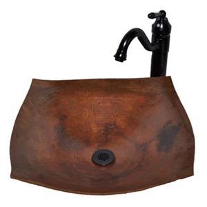 Novatto Malaga Square Copper Bath Vessel Sink,TCV-007NA