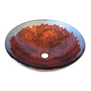 Novatto Novatto Carpione Red with Silver Trim Painted Glass