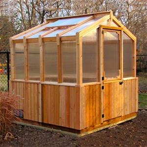 Outdoor Living Today 8-ft x 8-ft Cedar Greenhouse,CGH88 ... on Lowes Outdoor Living id=76093