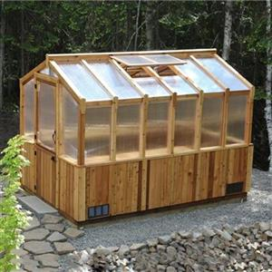 Outdoor Living Today 8-ft x 12-ft Cedar Greenhouse,CGH812 ... on Lowes Outdoor Living id=17463