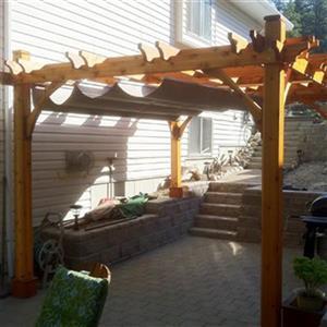 Outdoor Living Today BZ1212WRC 12-ft x 12-ft Cedar Breeze Pe