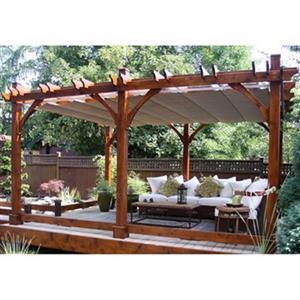 Outdoor Living Today Cedar Breeze Pergola- 12' x 16' - Beige