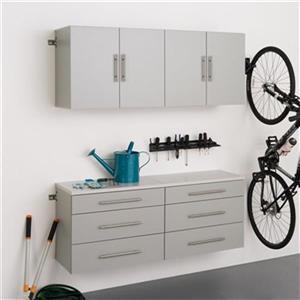 Prepac Furniture HangUps Set F 60-in 4-Piece Storage Cabinet