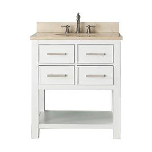 Avanity 30-in Brooks Bathroom Vanity Combo,BROOKS-VS30-WT-B