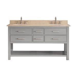 Avanity Brooks 60-in Bathroom Vanity Combo,BROOKS-VS60-CG-B\n