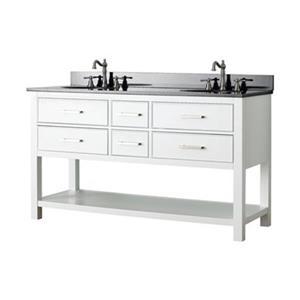 Avanity Brooks 60-in Bathroom Vanity Combo,BROOKS-VS60-WT-A