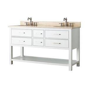 Avanity Brooks 60-in Bathroom Vanity Combo,BROOKS-VS60-WT-B