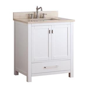 Avanity Modero 30-in Bathroom Vanity Combo,MODERO-VS30-WT-B