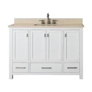 Avanity Modero 48-in Bathroom Vanity Combo,MODERO-VS48-WT-B