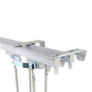 Rod Desyne Commercial Wall/Ceiling Double Curtain Track Kit,
