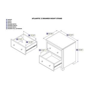 Atlantic Furniture Drawer Night Stand Walnut