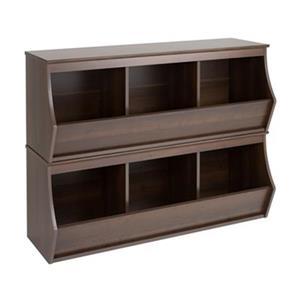 Prepac Fremont Stackable 3-Bin Storage Cubby,EUSM-0003-1