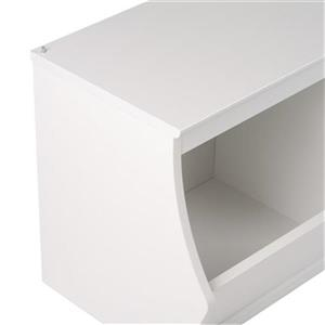 Prepac Monterey Stacked 2-Bin Storage Cubby (Set of 2),WRSD-