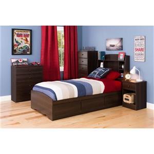 Prepac Furniture Astrid Tall 1-Drawer Nightstand