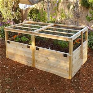 Outdoor Living Today RB63WLT 6-ft x 3-ft Raised Garden Bed ... on Lowes Outdoor Living id=31660