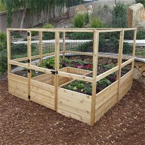 Outdoor Living Today Rb88dfo 8 Ft X 8 Ft Raised Garden Bed