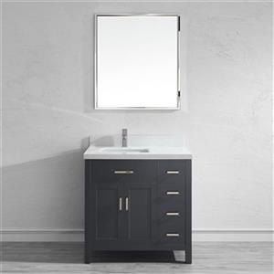 Spa Bathe Kenzie 36-in Bathroom Vanity,KZ36FG-SSC