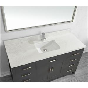 Spa Bathe Kenzie 60-in Bathroom Vanity,KZ60FG-SSC