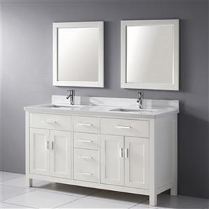 Spa Bathe Kenzie 63-in Bathroom Vanity,KZ63Wht-SSCTH