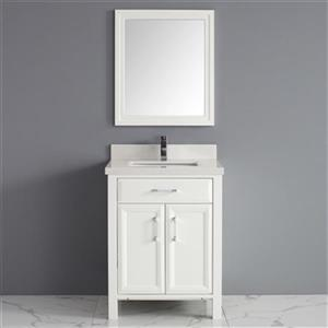Spa Bathe Calumet 28-in Bathroom Vanity,CA28Wht-SSC